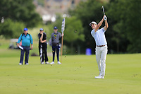Calum Hill (SCO) plays his 2nd shot on the 16th hole during Sunday's Final Round of the Northern Ireland Open 2018 presented by Modest Golf held at Galgorm Castle Golf Club, Ballymena, Northern Ireland. 19th August 2018.<br /> Picture: Eoin Clarke | Golffile<br /> <br /> <br /> All photos usage must carry mandatory copyright credit (&copy; Golffile | Eoin Clarke)