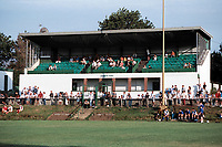 The main stand at Edgware Town FC Football Ground, White Lion Ground, Edgware, London, pictured on 6th August 1995