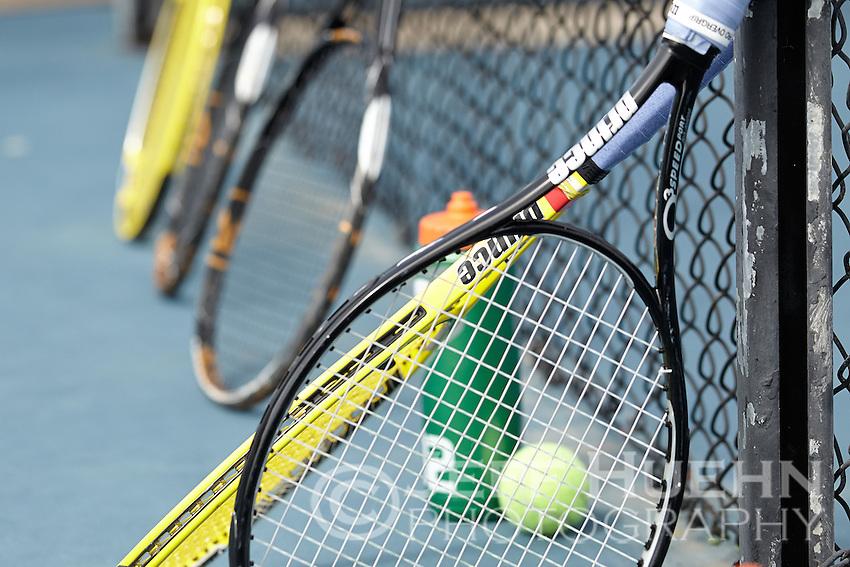 SAN ANTONIO, TX - FEBRUARY 15, 2013: The University of Nevada Wolfpack vs. the University of Texas at San Antonio Roadrunners Men's Tennis at the UTSA Tennis Center. (Photo by Jeff Huehn)