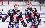 S&ouml;dert&auml;lje 2014-10-23 Ishockey Hockeyallsvenskan S&ouml;dert&auml;lje SK - Malm&ouml; Redhawks :  <br /> S&ouml;dert&auml;ljes Mattias Beck deppar med P&auml;r Edblom och Jonathan Carlsson efter matchen mellan S&ouml;dert&auml;lje SK och Malm&ouml; Redhawks <br /> (Foto: Kenta J&ouml;nsson) Nyckelord: Axa Sports Center Hockey Ishockey S&ouml;dert&auml;lje SK SSK Malm&ouml; Redhawks depp besviken besvikelse sorg ledsen deppig nedst&auml;md uppgiven sad disappointment disappointed dejected
