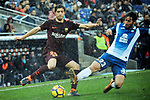 League Santander 2017-2018 - Game: 22.<br /> RCD Espanyol vs FC Barcelona: 1-1.<br /> Sergi Roberto vs Granero.
