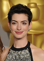 Anne Hathaway at the 86th Annual Academy Awards at the Dolby Theatre, Hollywood.<br /> March 2, 2014  Los Angeles, CA<br /> Picture: Paul Smith / Featureflash