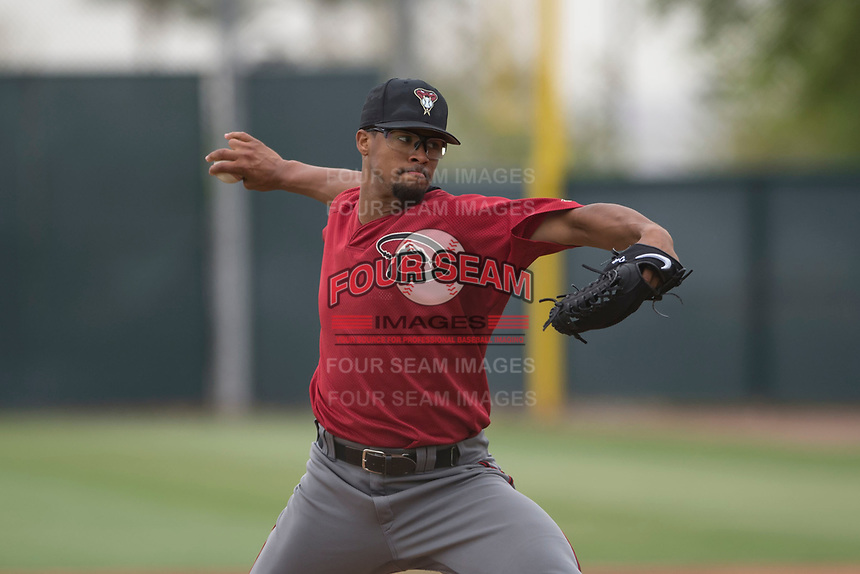 Arizona Diamondbacks starting pitcher Jon Duplantier (41) during a Minor League Extended Spring Training game against the Colorado Rockies at Salt River Fields at Talking Stick on April 16, 2018 in Scottsdale, Arizona. (Zachary Lucy/Four Seam Images)
