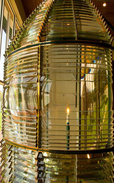 Ponce de Leon Inlet Lighthouse original first order Fresnel lens