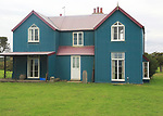 Corrugated iron house at East Lane, Bawdsey, Suffolk, England, UK