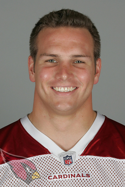 This is a 2009 photo of Stephen Spach of the Arizona Cardinals football team.