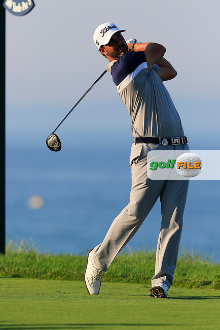 Scott Piercy (USA) tees off the 16th tee during Saturday's Round 3 of the 97th US PGA Championship 2015 held at Whistling Straits, Mosel, Kohler, Wisconsin, United States of America. 15/08/2015.<br /> Picture Eoin Clarke, www.golffile.ie