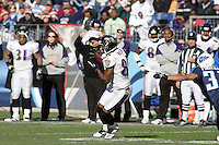 Ravens wide receiver Derrick Mason on a 9 yard pass play in the third quarter against the Titans at LP Field in Nashville, Tennessee on November 12, 2006. Baltimore won 27-26.