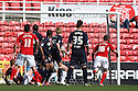 Aden Flint of Swindon (out of picture) scores their first goal. Swindon Town v Stevenage - npower League 1 -  County Ground, Swindon - 20th April, 2013. © Kevin Coleman 2013..