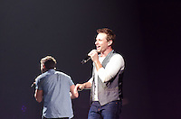 Drew Lachey of 98 Degrees performs during The Package Tour 2013, BB&T Center, Sunrise, FL, June 22, 2013