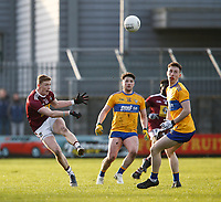 26th January 2020; TEG Cusack Park, Mullingar, Westmeath, Ireland; Allianz Football Division 2 Gaelic Football, Westmeath versus Clare; Westmeath midfielder Ray Connellan, recently returned from playing Aussie Rules, plays a long ball up field
