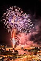 From Waikiki to Ala Moana, everyone can enjoy the weekly Hilton Hawaiian Village fireworks show, Honolulu, O'ahu.