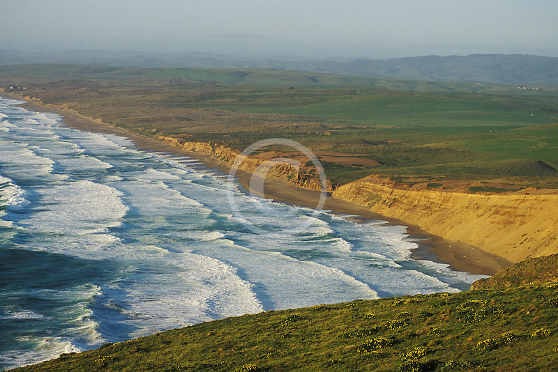 California, Point Reyes, Point Reyes Beach from bluff