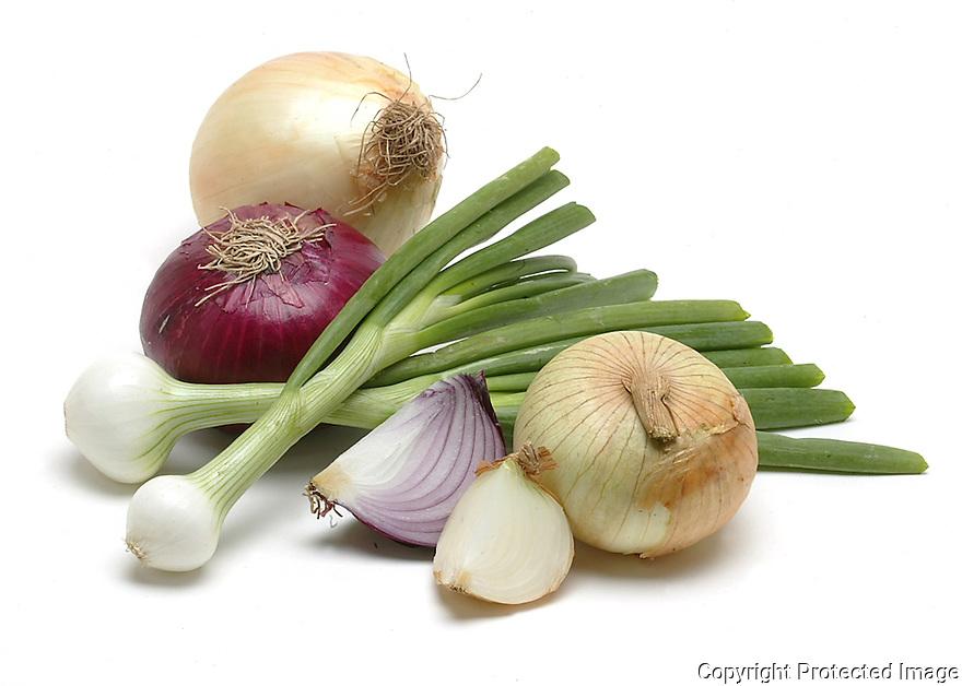 Onion still life.