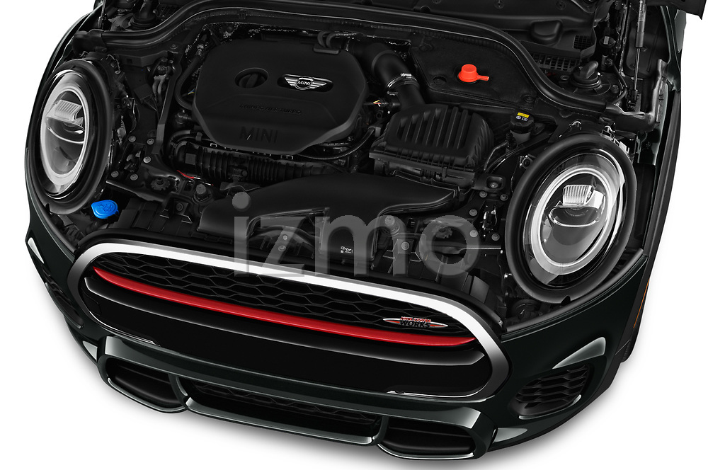 Car Stock 2019 MINI Cooper John-Cooper-Works-Convertible Door Convertible Engine  high angle detail view