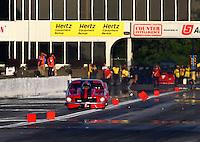 May 16, 2014; Commerce, GA, USA; NHRA pro mod driver XXXX during qualifying for the Southern Nationals at Atlanta Dragway. Mandatory Credit: Mark J. Rebilas-USA TODAY Sports