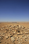 Israel, Negev, ancient burial site in Ramon Crater