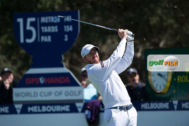 Jimmy Walker (USA) during round 1 of the ISPS Handa World Cup of Golf, from Kingston heath Golf Club, Melbourne Australia. 24/11/2016<br /> Picture: Golffile | Anthony Powter<br /> <br /> <br /> All photo usage must carry mandatory copyright credit (&copy; Golffile | Anthony Powter)