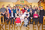 BABY JOY: Proud parents Valaire and John Riordan, Leith Cross, Tralee (seated centre) of little James who was Christening by Fr Patsy Lynch at St Brendan's Church, Tralee and celebrated afterwards with family and friends at Stokers Lodge restaurant and bar, Tralee on Saturday.