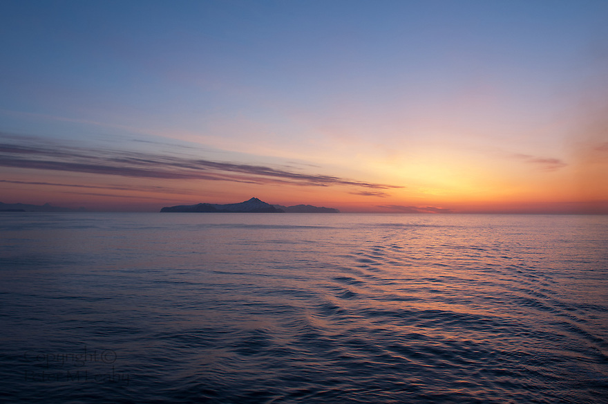 Sunrise In the Aleutian Islands.