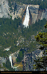 Nevada Fall and Vernal Fall in Spring, Glacier Point, Yosemite National Park