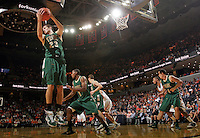 Nov. 12, 2010; Charlottesville, VA, USA;  William & Mary Tribe forward Kyle Gaillard (23) grabs a rebound during the game against the Virginia Cavaliers at the John Paul Jones Arena. Virginia won 76-52.  Mandatory Credit: Andrew Shurtleff