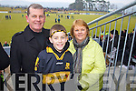 Neill Kiely, Evan Kiely and Eileen Keily Dr. Crokes fans at the AIB Senior Club Football Championship Munster Final at Mallow GAA Grounds on Sunday 30th January 2011.
