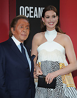 NEW YORK, NY - June 5: Valentino Garavani and Anne Hathaway attends 'Ocean's 8' World Premiere at Alice Tully Hall on June 5, 2018 in New York City. <br /> CAP/MPI/JP<br /> &copy;JP/MPI/Capital Pictures