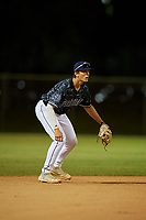 Kamren James during the WWBA World Championship at the Roger Dean Complex on October 19, 2018 in Jupiter, Florida.  Kamren James is a shortstop from Southaven, Mississippi who attends DeSoto Central High School and is committed to Mississippi State.  (Mike Janes/Four Seam Images)
