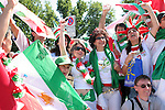 11 June 2006: Iran fans before the game. Mexico played Iran at the Frankenstadion in Nuremberg, Germany in match 7, a Group D first round game, of the 2006 FIFA World Cup.