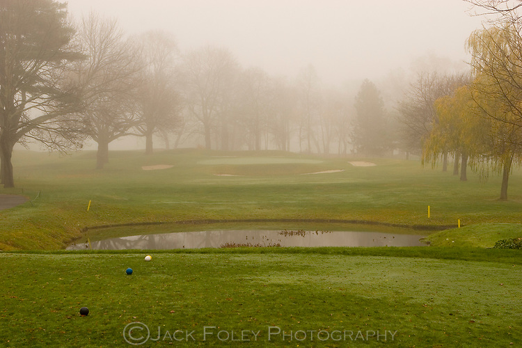 Tedesco golf course on a foggy November day.