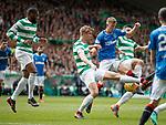 29.04.18 Celtic v Rangers: Ross McCrorie attacks the ball