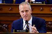 United States Representative Sean Patrick Maloney (Democrat of New York) questions Dr. Fiona Hill, former Senior Director for Europe and Russia, National Security Council (NSC), and David A. Holmes, Political Counselor, United States Embassy in Kyiv, Ukraine, on behalf of US Department of State, as they testify during the US House Permanent Select Committee on Intelligence public hearing as they investigate the impeachment of US President Donald J. Trump on Capitol Hill in Washington, DC on Thursday, November 21, 2019.<br /> Credit: Ron Sachs / CNP<br /> (RESTRICTION: NO New York or New Jersey Newspapers or newspapers within a 75 mile radius of New York City)