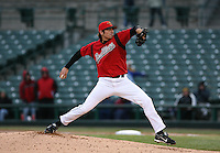 2007:  Matt Garza of the Rochester Red Wings delivers a pitch at Frontier Field during a International League baseball game. Photo By Mike Janes/Four Seam Images