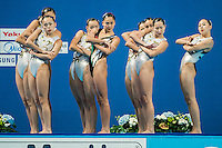People's Republic of China CHN<br /> Women's Free Combination Preliminary Free Combination - Kazan Arena<br /> Day03 25/07/2015<br /> XVI FINA World Championships Aquatics Swimming<br /> Kazan Tatarstan RUS July 24 - Aug. 9 2015 <br /> Photo A.Masini/Deepbluemedia/Insidefoto