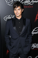 HOLLYWOOD, LOS ANGELES, CA, USA - MAY 31: Tyler Blackburn at the 'Pretty Little Liars' 100th Episode Celebration held at W Hotel Hollywood on May 31, 2014 in Hollywood, Los Angeles, California, United States. (Photo by Xavier Collin/Celebrity Monitor)