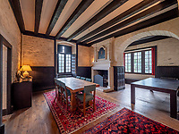 BNPS.co.uk (01202 558833)<br /> Pic: LeggettPrestige/BNPS<br /> <br /> Wealthy Brits have the perfect chance to escape to the chateau after a medieval castle with its own fortifications and coat of arms went on the market for £3.3million. (3.9m euros)<br /> Located in south west France, Chateau de Vouzan comes with an enormous 23 hectares of land which can be looked out upon from its turreted watchtowers.<br /> The 15th century chateau, in Angouleme, Charente, has been granted 'protected historic monument' status by the French government.