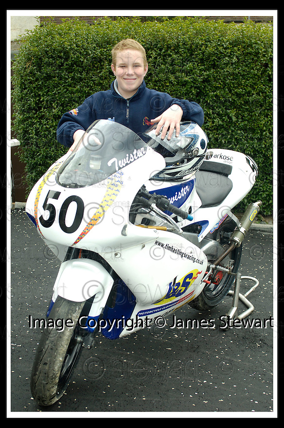 20/04/2006         Copyright Pic: James Stewart.File Name : sct_jspa01_HASTINGS_tim.TIM HASTINGS FROM BONNYBRIDGE WHO WAS SERIOUSLY INJURED IN A CRASH DURING A RACE AT LYDDEN HILL RACE TRACK..... Payments to :.James Stewart Photo Agency 19 Carronlea Drive, Falkirk. FK2 8DN      Vat Reg No. 607 6932 25.Office     : +44 (0)1324 570906     .Mobile   : +44 (0)7721 416997.Fax         : +44 (0)1324 570906.E-mail  :  jim@jspa.co.uk.If you require further information then contact Jim Stewart on any of the numbers above.........