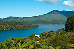 New Zealand, South Island: Scenic landscape view at resort Lochmara Lodge near town of Picton on Marlborough Sounds. Photo copyright Lee Foster. Photo # newzealand125492