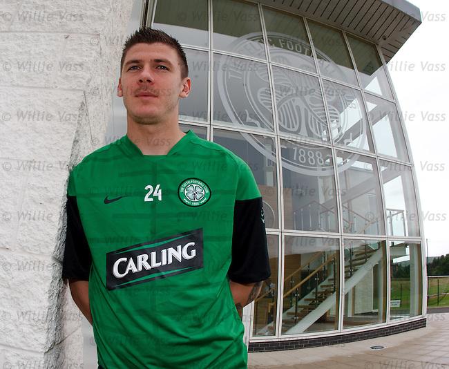 Lukasz Zaluska new Celtic goalkeeper at Lennoxtown training complex