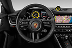 Car pictures of steering wheel view of a 2020 Porsche 911 Carrera S 2 Door Coupe