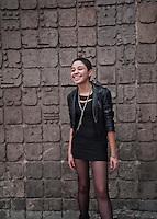 Marlene Espinosa Herrera, 18 years old. Portraits of Adolescents, glorieta de Insurgentes, in Mexico City. (release #1)