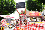 Publicity caravan at the start of Stage 13 of the 104th edition of the Tour de France 2017, running 101km from Saint-Girons to Foix, France. 14th July 2017.<br /> Picture: ASO/Alex Broadway | Cyclefile<br /> <br /> <br /> All photos usage must carry mandatory copyright credit (&copy; Cyclefile | ASO/Alex Broadway)