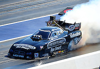 Apr. 14, 2012; Concord, NC, USA: NHRA funny car driver Jack Beckman during qualifying for the Four Wide Nationals at zMax Dragway. Mandatory Credit: Mark J. Rebilas-