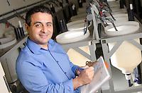 Dr. Atilla Karsi in fish lab