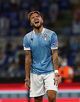 Football, Serie A: S.S. Lazio - Brescia, Olympic stadium, Rome, July 29, 2020. <br /> Lazio's  Ciro Immobile reacts uring the Italian Serie A football match between S.S. Lazio and Brescia at Rome's Olympic stadium, Rome, on July 29, 2020. <br /> UPDATE IMAGES PRESS/Isabella Bonotto