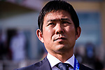 Japan Head Coach Hajime Moriyasu is seen prior to the AFC Asian Cup UAE 2019 Group F match between Japan (JPN) and Turkmenistan (TKM) at Al Nahyan Stadium on 09 January 2019 in Abu Dhabi, United Arab Emirates. Photo by Marcio Rodrigo Machado / Power Sport Images