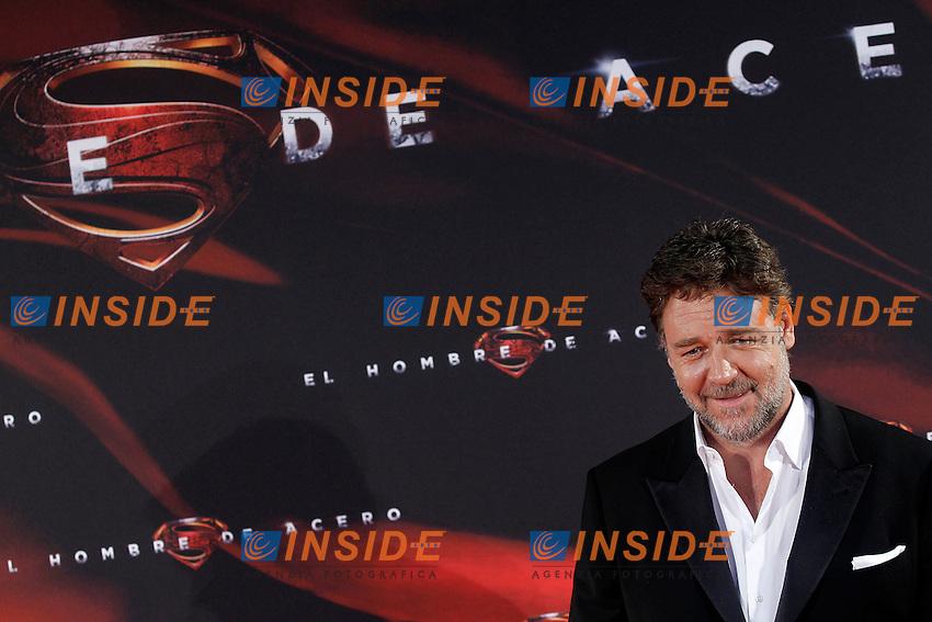 The actor Rusell Crowe attends the spanish premier of the film 'Man of Steel&quot; (El hombre de acero).June 17,2013.(ALTERPHOTOS/Acero) <br /> foto INSIDEFOTO