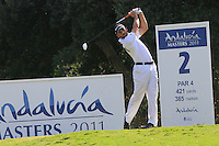 Sergio Garcia (ESP) during the final day of the  Andalucía Masters at Club de Golf Valderrama, Sotogrande, Spain. .Picture Denise Cleary www.golffile.ie