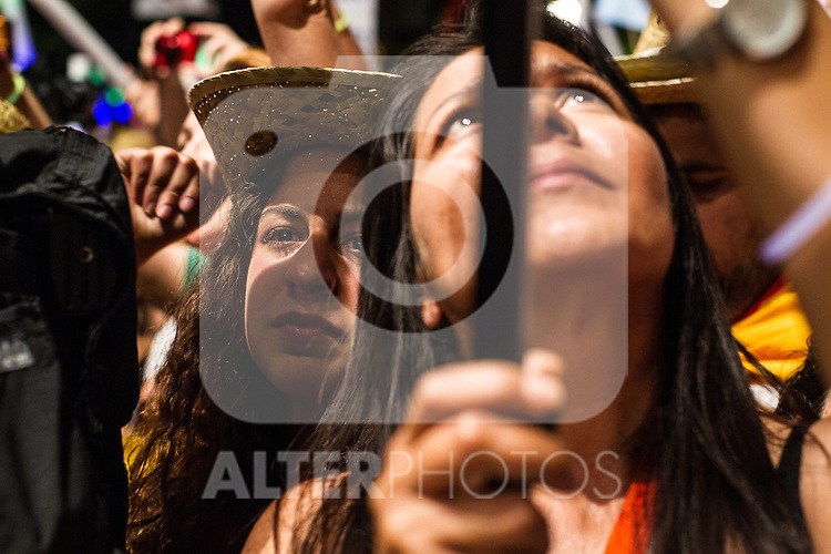 Voters of Unidos Podemos after the results of the national elections at plaza Reina Sofia, Spain. 26,06,2016. (ALTERPHOTOS/Rodrigo Jimenez)